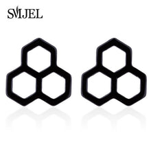 SMJEL Minimalist Bee Honeycomb Earrings Women