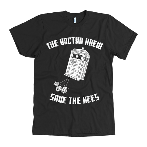 The Doctor Knew Save the Bees Mens Shirt