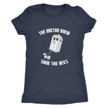 The Doctor Knew Save the Bees Womens Shirt