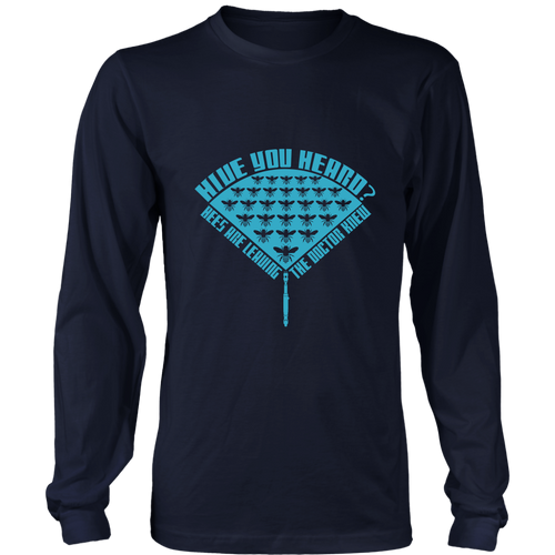 Dr Who Hive you Heard Bee Long Sleeve Shirts