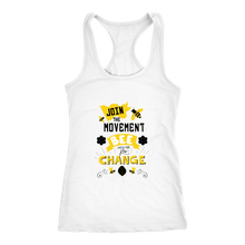 Join the Movement! Bee the Change Womens Racerback Tank Shirts