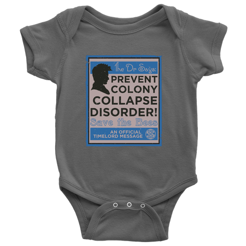 Dr Who Prevent Colony Collapse Disorder Kidswear Bee Shirts
