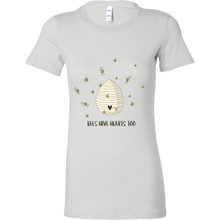 Bee Hive Hearts Too! Bella Womens Save the Bee Shirts