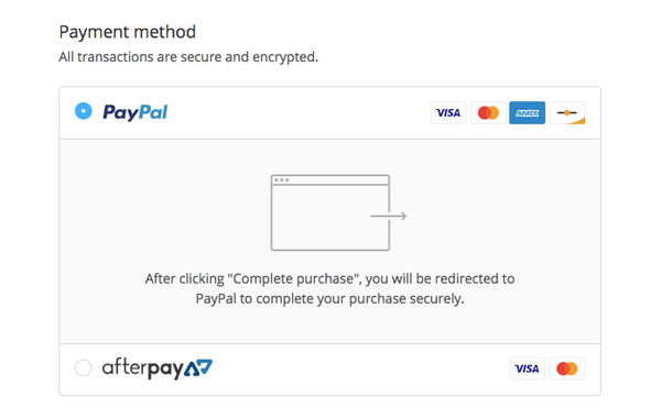 How To Pay: Credit / Debit Cards, PayPal, Laybuy, AfterPay
