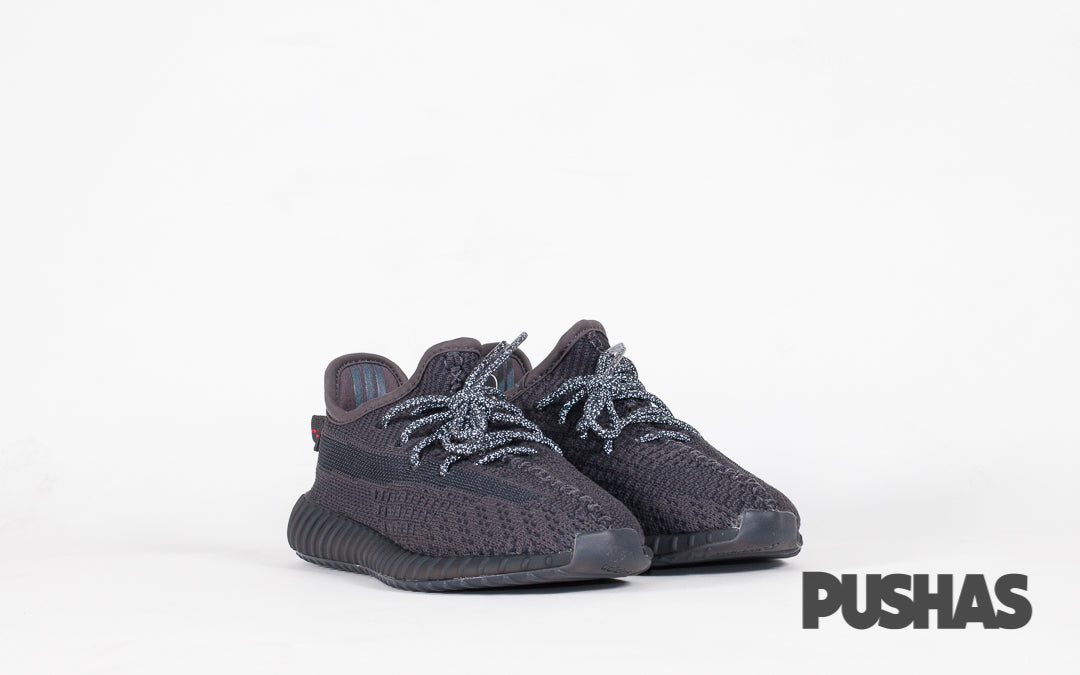 pushas-Adidas-Yeezy-Boost-350-V2-Triple-Black-Non-Reflective-Kids