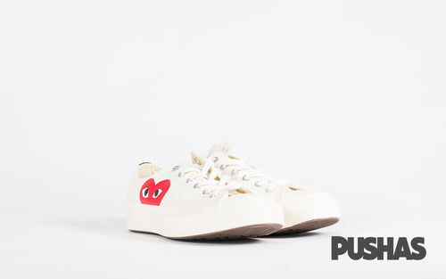Comme des Garcons Play x Chuck Taylors Low Top - Milk (New)