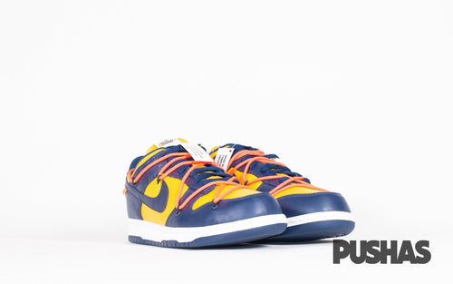 Dunk Low x Off-White - University Gold Midnight Navy (New)
