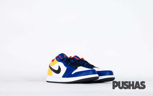 pushas-nike-Air-Jordan-1-Low-Royal-Yellow