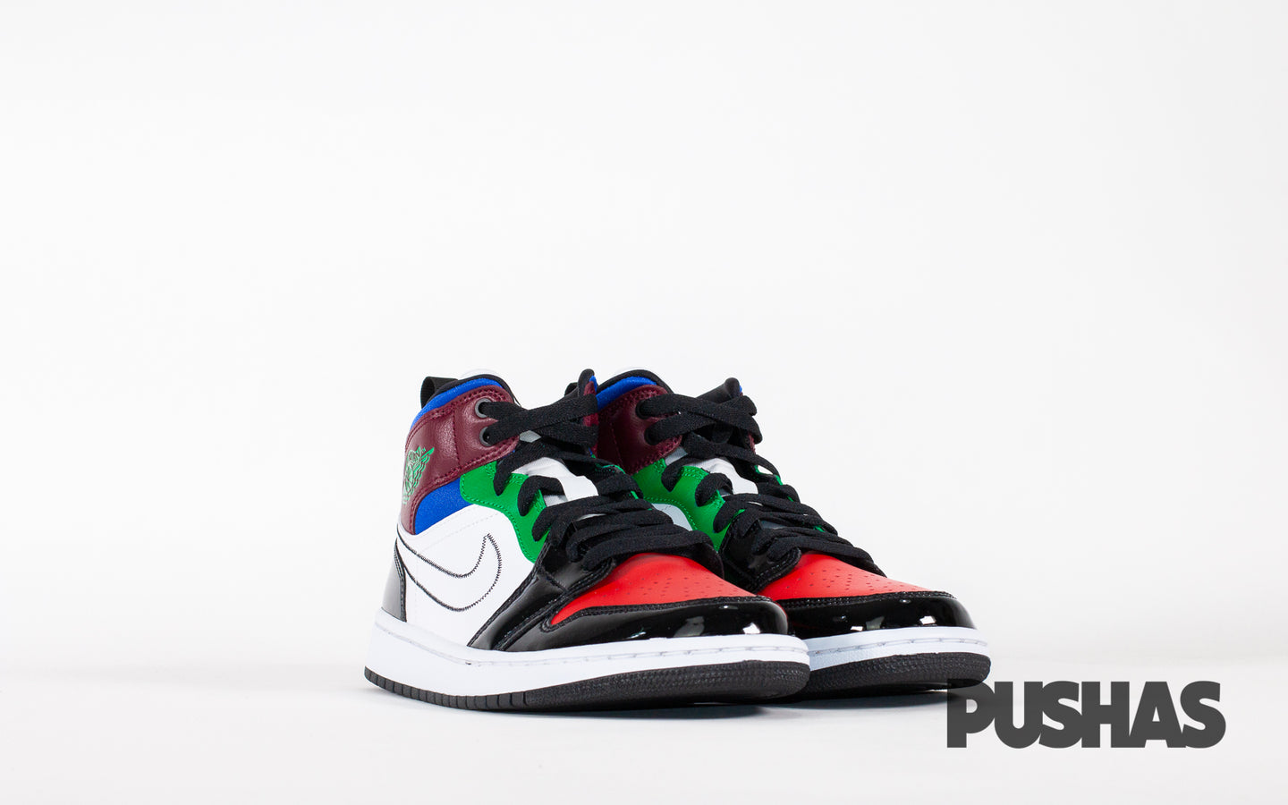 pushas-nike-Air-Jordan-1-Mid-W-SE-Black-White-Multi-Color
