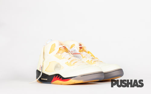 pushas-nike-Ai- Jordan-5-Off-White-Sail