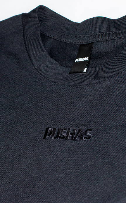 'Triple Black' Embroidered T-Shirt