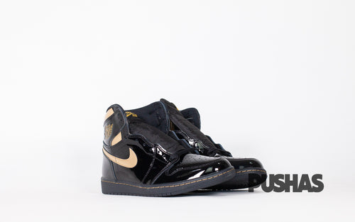 pushas-nike-Air-Jordan-1-High-Black-Metallic-Gold