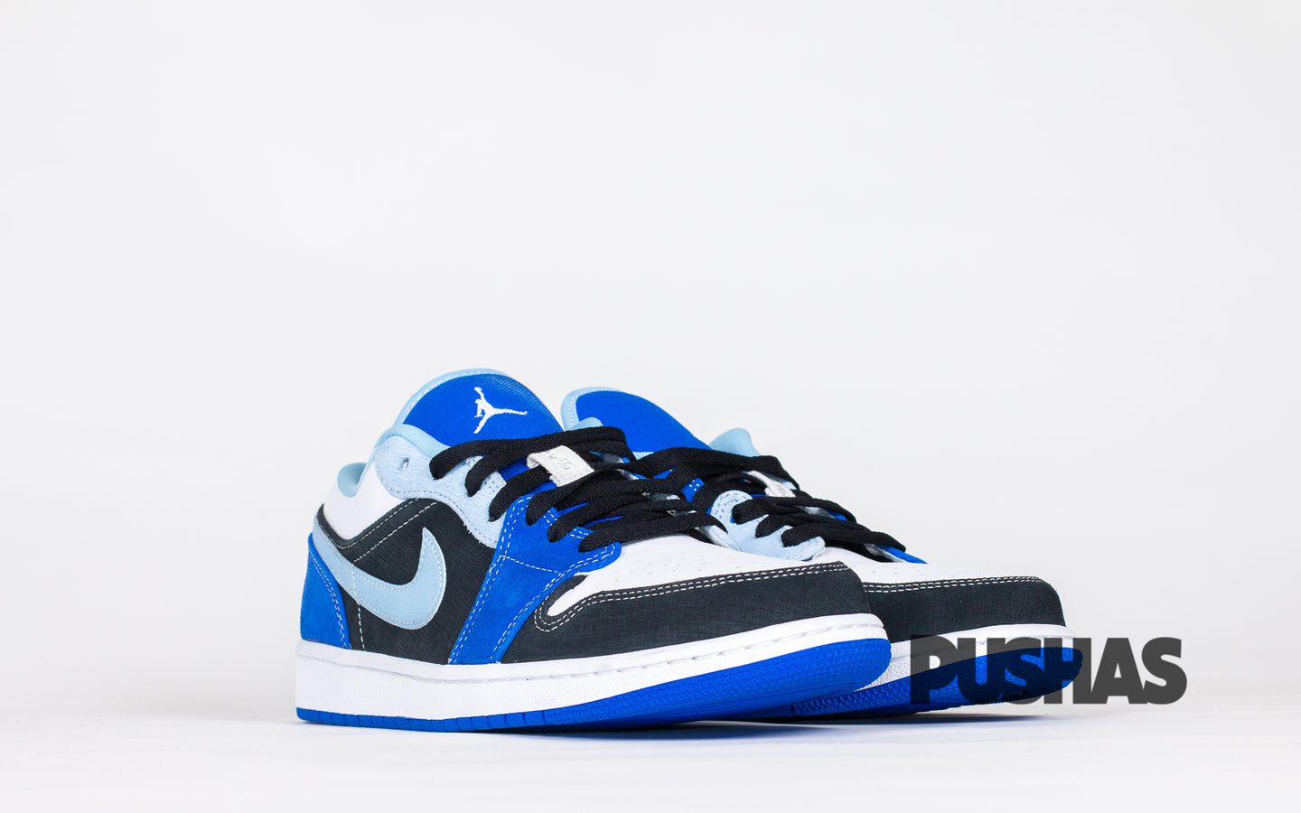 pushas-nike-Air-Jordan-1-Low-Black-Blue-White
