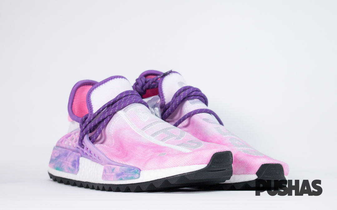 low priced 2d179 a326b NMD x HU Pharrell Human Race Holi Festival 'Pink Glow' (New ...