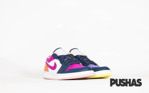 pushas-nike-Air-Jordan-1-Low-SE-Mismatched-Purple-Magenta-W