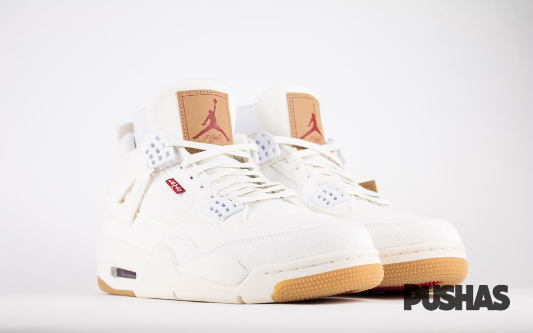 fdb96b4913815f Air Jordan 4 x Levi s  White Denim  (New) – PUSHAS