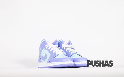 pushas-nike-Air-Jordan-1-Mid-Purple-Aqua-GS