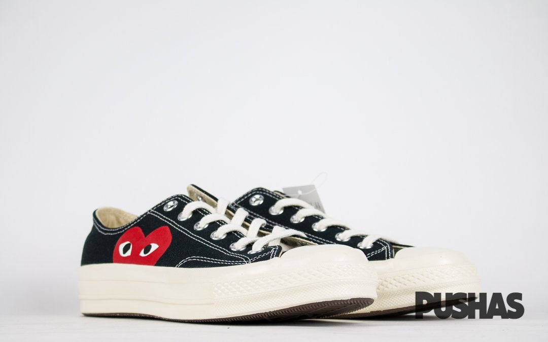 Comme des Garcons Play x Chuck Taylors Low Top - Black (New)