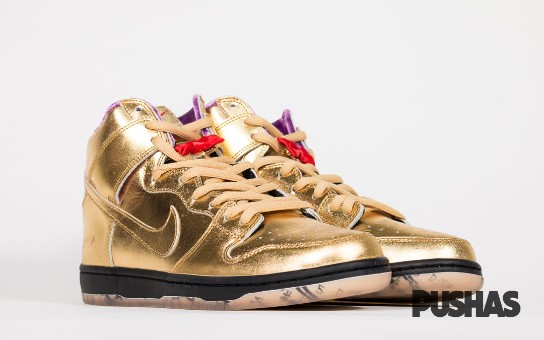 pretty nice fd591 f7731 SB Dunk High x Humidity 'Metallic Gold' (New) – PUSHAS