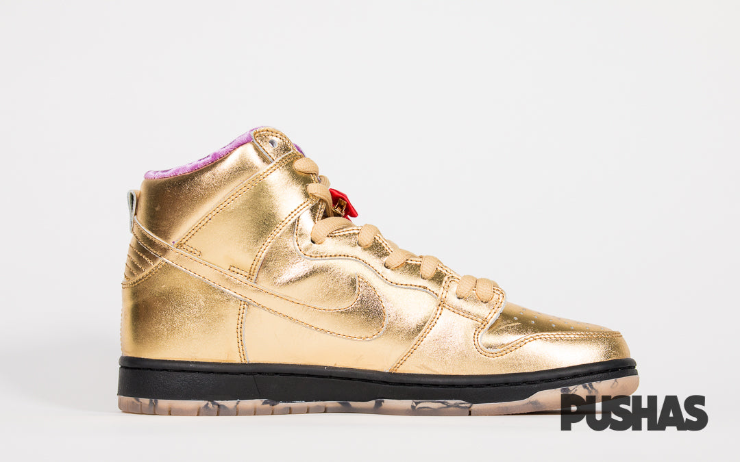 pretty nice 3cda1 ac346 SB Dunk High x Humidity 'Metallic Gold' (New) – PUSHAS
