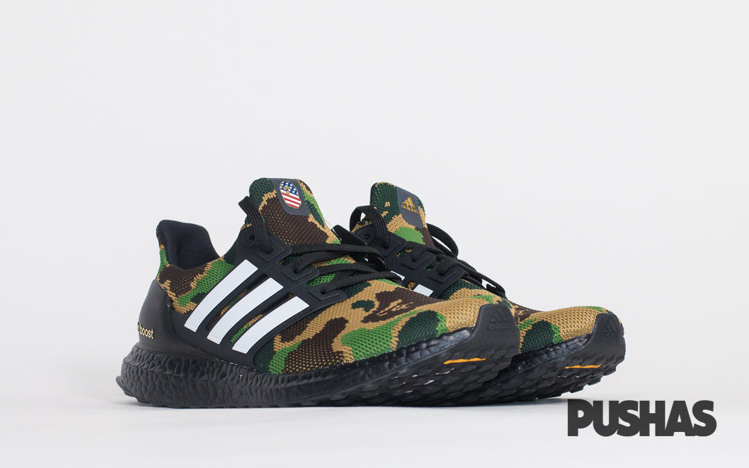 new styles a51cc 484cc Ultraboost x BAPE 'Green Camo' (New) – PUSHAS