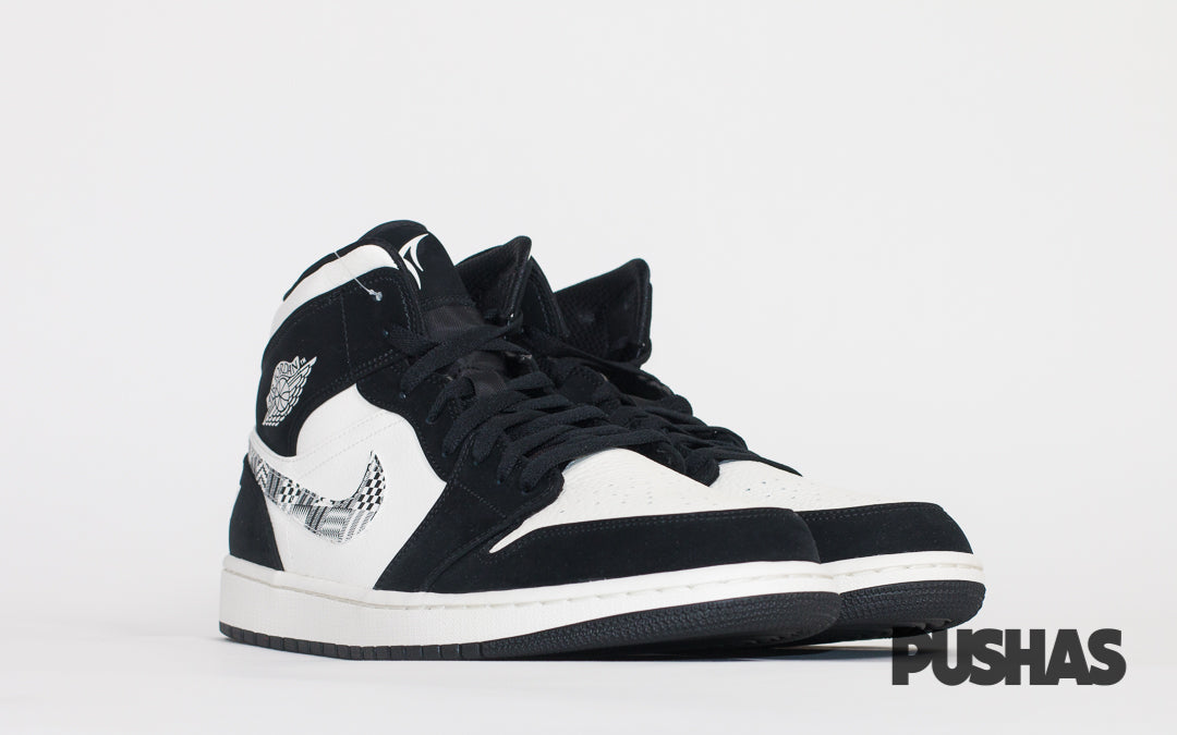 pushas-nike-Jordan-1-Mid-Equality-2019-black-white
