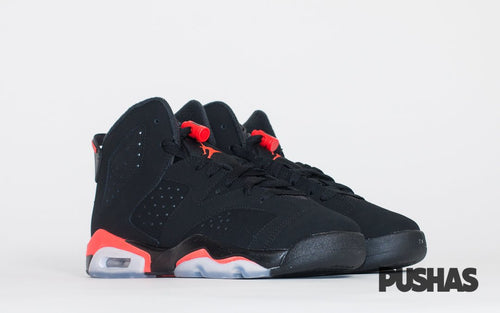 Air Jordan 6 Retro 'Infrared' 2019 - Black GS (New)