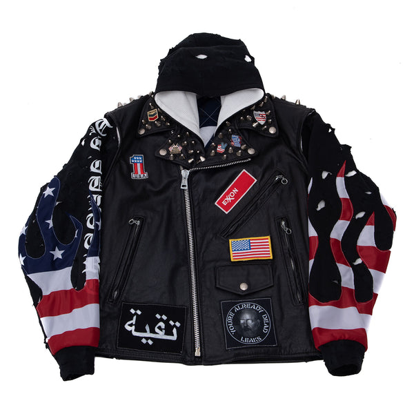 American Freedom Fighter Leather Jacket
