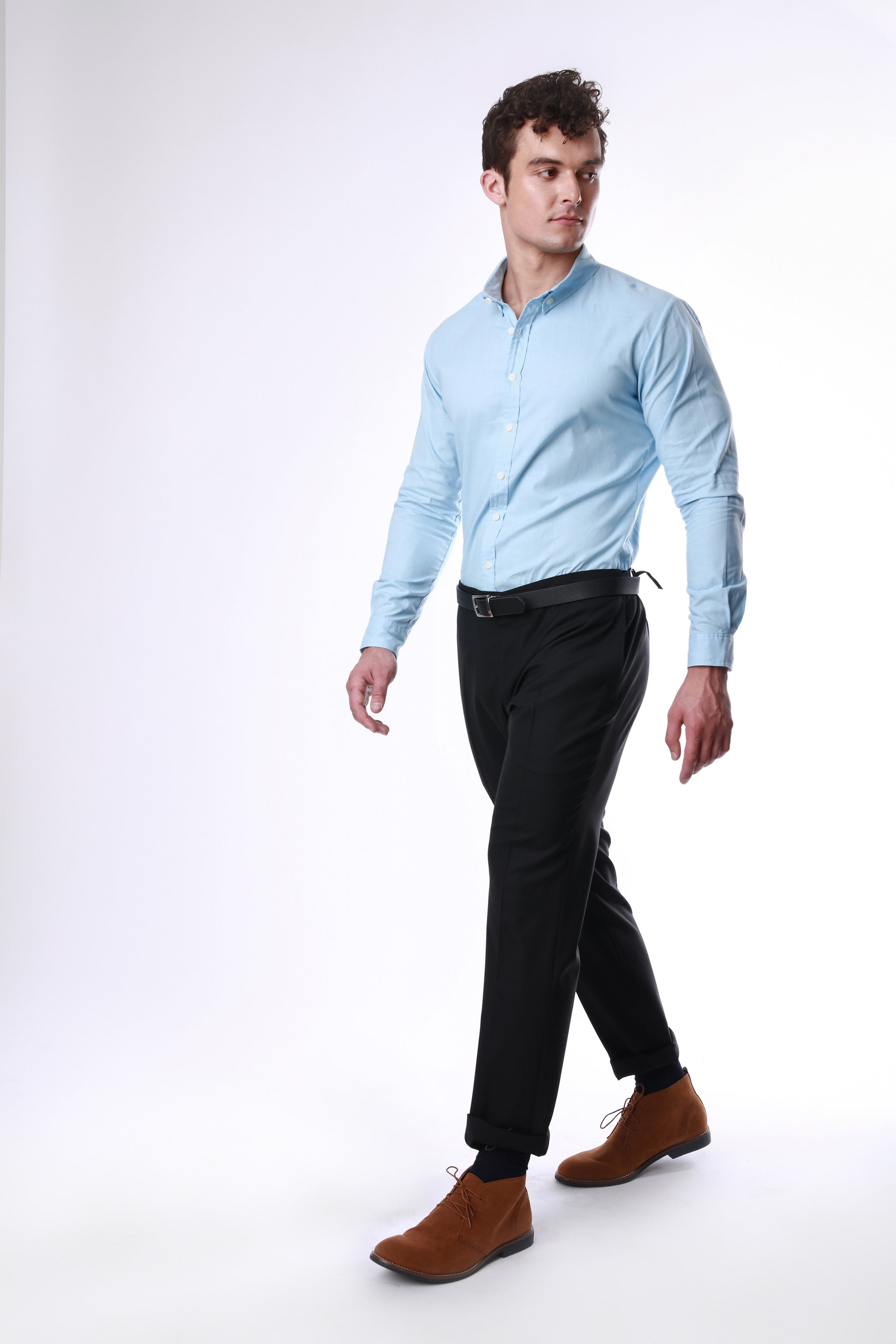 Arnie Sky | Muscle-Fit Oxford Shirt