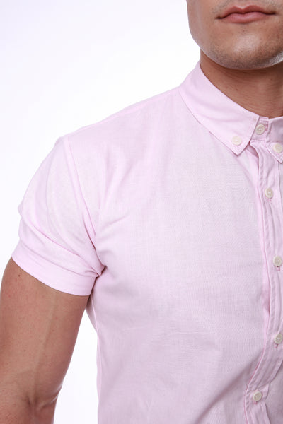 Franco | Muscle-Fit Short-Sleeve Oxford Shirt