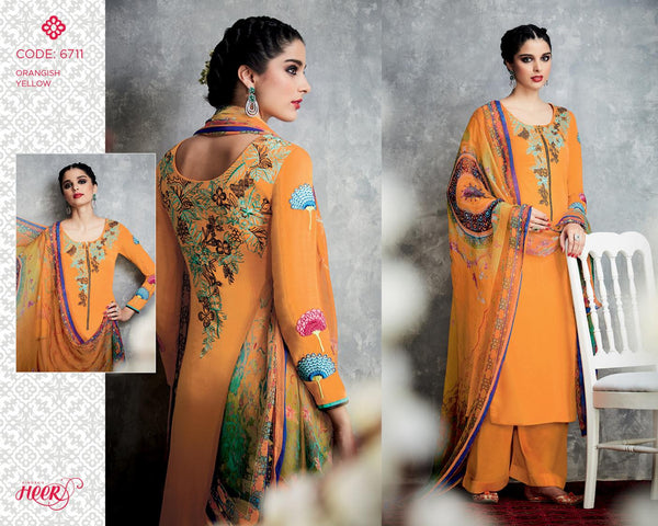 Heer Vol 18 Yellow Pure Cotton Designer Salwar Kameez,18HER6711
