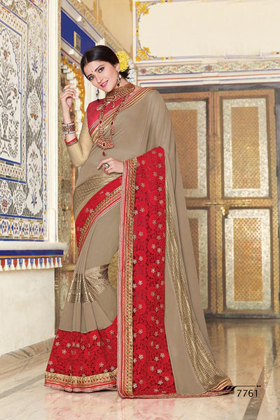 Aakruti vol 2 Multicolor  Georgette Designer worked saree,2SAKT7761