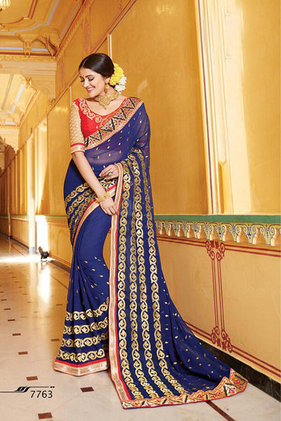 Aakruti vol 2 Multicolor  Georgette Designer worked saree,2SAKT7763