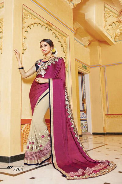 Aakruti vol 2 Multicolor  Georgette Designer worked saree,2SAKT7764
