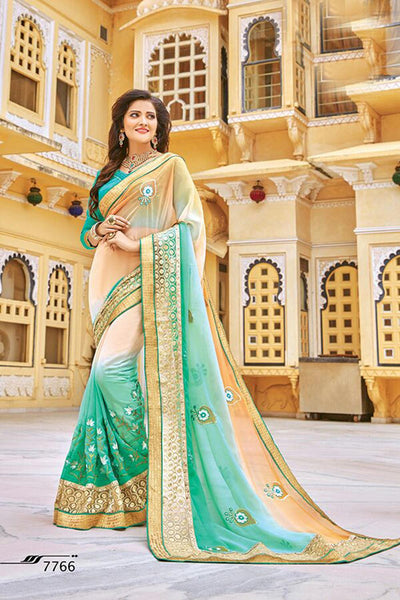 Aakruti vol 2 Multicolor  Georgette Designer worked saree,2SAKT7766