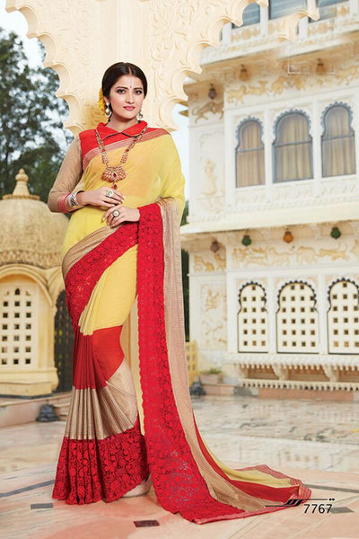 Aakruti vol 2 Multicolor  Georgette Designer worked saree,2SAKT7767