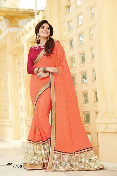 Aakruti vol 2 Multicolor  Georgette Designer worked saree,2SAKT7768