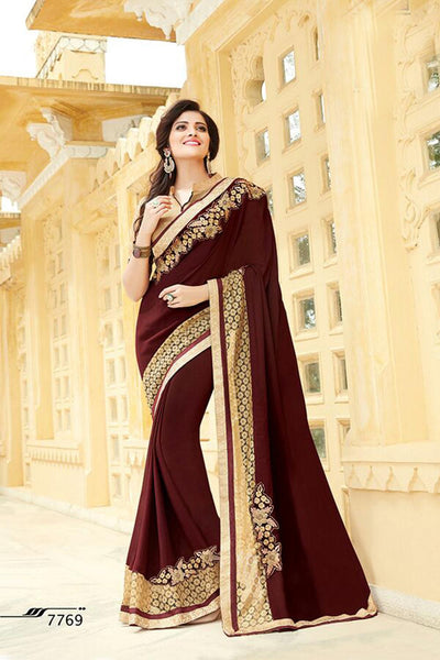 Aakruti vol 2 Multicolor  Georgette Designer worked saree,2SAKT7769