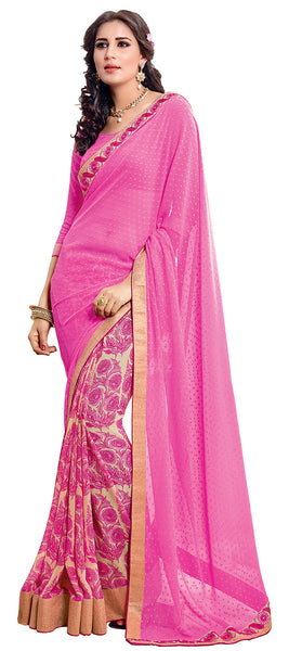 Vipul Georgette Printed Saree, VIP32144