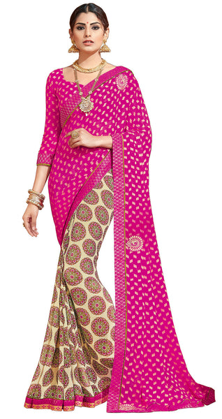 Vipul Georgette Printed Saree, VIP32302