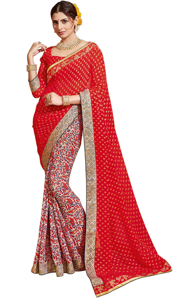Vipul Georgette Printed Saree, VIP32307