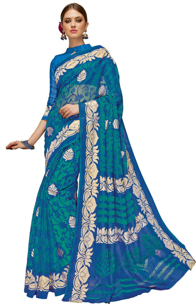 Vipul Art Silk Brasso Printed Saree, VIP32805
