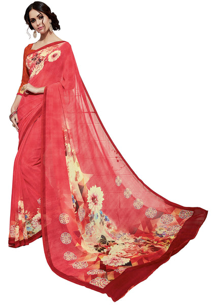 Vipul Georgette Printed Saree, VIP32932