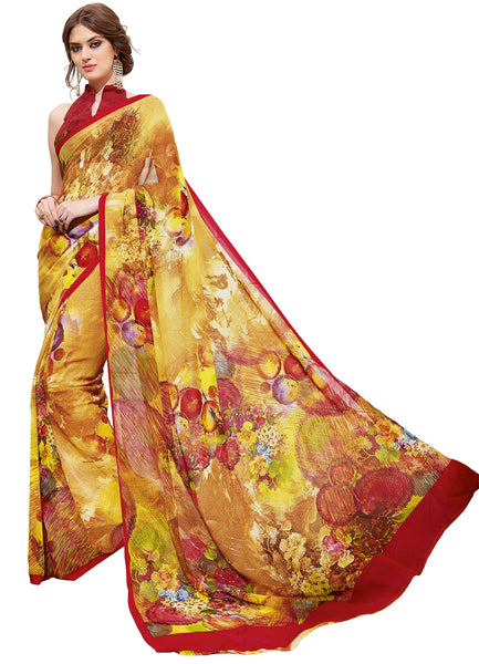 Vipul Georgette Printed Saree, VIP32937