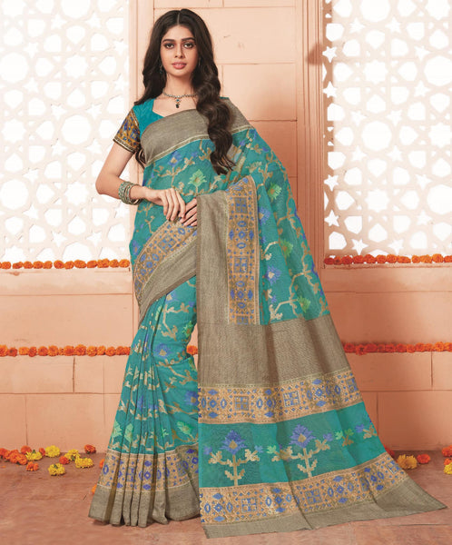 Green Art Silk Printed  Saree VipHypAmrapali34745