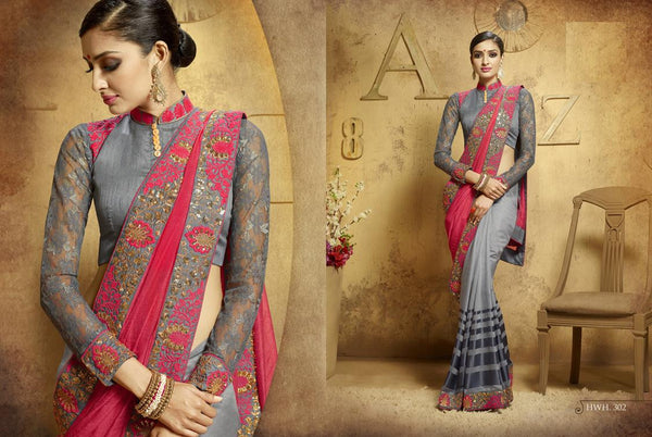 AAKRUTI VOLUME 3 Multicolor  Viscose Designer Worked Saree,3LAKT302