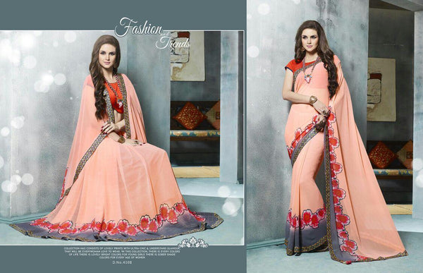 Kangna Vol 4 Multicolor  Georgette Digital Printed saree,4KGN4108