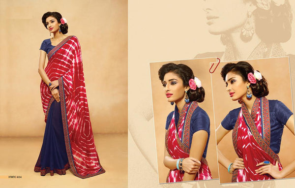 AAKRUTI VOLUME 4 Multicolor Chiffon Designer Worked Saree,4LAKT404