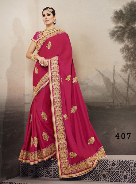 RUKMINI VOLUME 4 Multicolor  Satin Georgette Designer Heavy Worked Saree,4RKM407