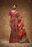 "THE ""VINTAGE"" COLLEC Multicolor Tussar Silk HEAVY DIGITAL PRINT Saree,TVC710"